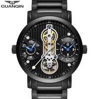 Guanqin 2019 novos esportes relógios mecânicos homens à prova dwaterproof água marca de luxo tourbillon esqueleto automático relógio homem relogio masculino