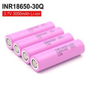 Para samsung 18650 3.7v li-ion bateria recarregável 3000 mah inr18650 30q baterias para lanterna solar lâmpada diy ferramenta de energia brinquedos