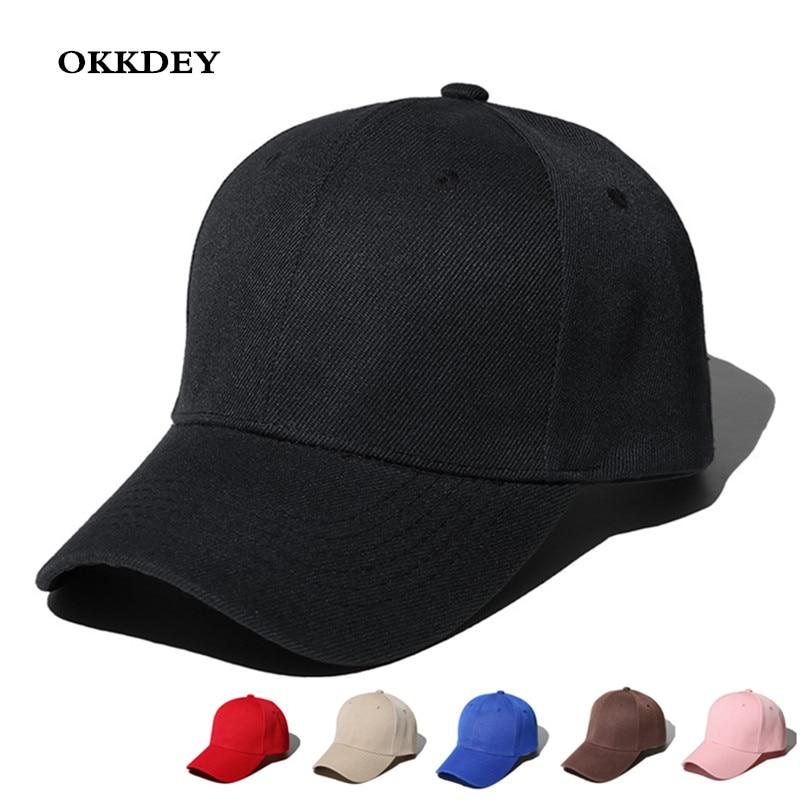 2020Women Men Baseball Caps  Summer Unisex Solid Color Plain Curved Sun Visor Hip-Hop Cap Fashion Hat Women Adjustable Caps