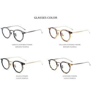 Image 5 - B Titanium Acetate Eyeglasses Frame Men High Quality Vintage Round Optical Frames Eye Glasses for Women Spectacles Eyewear 1850