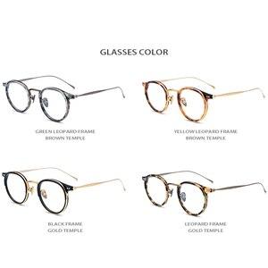 Image 5 - B tytanowe okulary z acetatu rama mężczyźni wysokiej jakości Vintage okrągłe oprawki do okularów korekcyjnych oczu okulary dla kobiet okulary okulary 1850