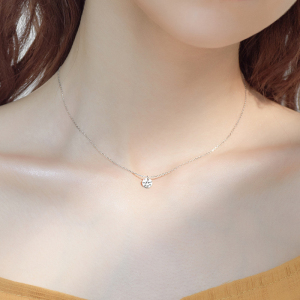 Trendy Sweet 925 Sterling Silver O-Chain AAA CZ Mosaic Zircon Pendant Choker Necklace 2020 Fine Jewelry For Women Gift NK013