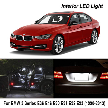 Perfect White Canbus Error Free LED Bulb Interior Dome Map Indoor Light Kit For BMW 3 Series E36 E46 E90 E91 E92 E93 (1990-2013) image