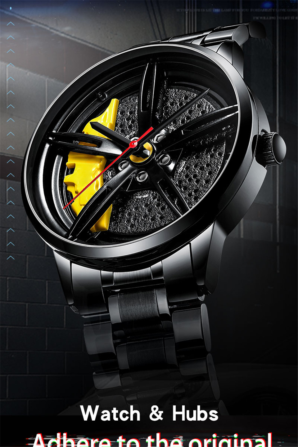 He1ecbf47d2974b4c9eed11be5353af5fl 2020 Nektom Men Watch Sports Car Watch Wheel Rim Design Car