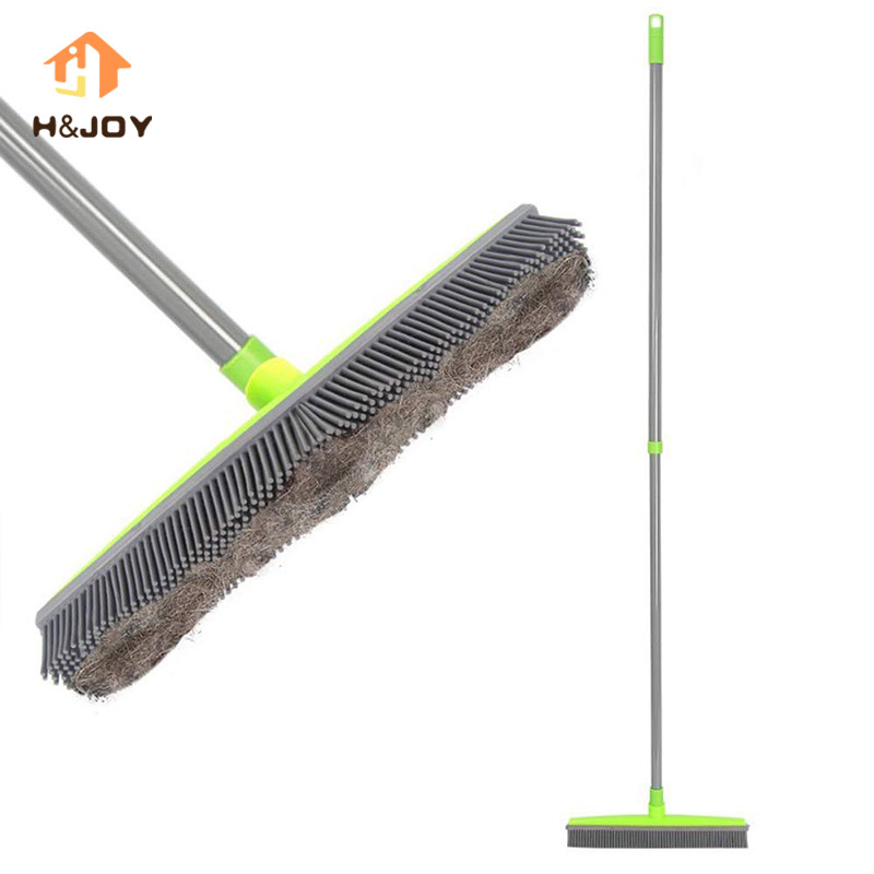 Floor Squeegee Carpet-Cleaner Sweeper Broom Pet-Hair-Lint-Removal Telescopic-Bristles title=