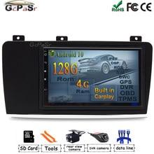 Rádio gps steereo do carro de android 10 para volvo xc70 v70 s60 2004-2008 reprodutor de multimídia do núcleo de hexa do automóvel bt wifi painel da guarnição