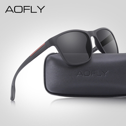 AOFLY DESIGN Fashion Polarized Sunglasses Men Ultralight TR90 Square Frame Driving Mirror Sun Glasses Male zonnebril heren UV400