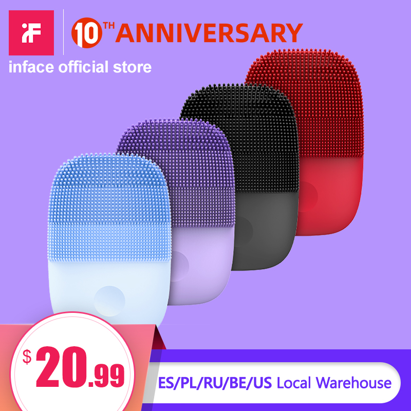 Inface Electric Sonic Facial Cleansing Brush Deep Cleaning Face Brush Upgrade Version Face Cleaning Tool