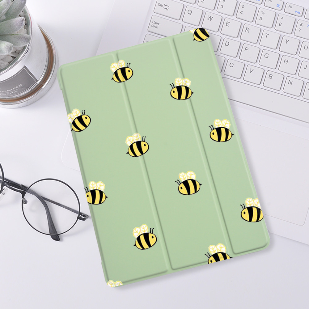 Cute Bee Case For ipad 10.2 7th 8th Generation Case Soft Silicone For iPad Air 4 2 Mini 1 2 3 5 Cover For iPad Pro 11 2020 Case