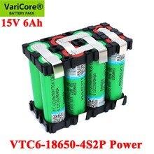 Varicore 18650 vtc6 4s1p 14.4/14.8v 3000mah 4s2p 6000mah 20 amps 15v 16.8v para baterias de chave de fenda pacote de bateria de solda