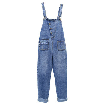Women Denim Jumpsuit Ripped Casual Strappy Off Shoulder Boyfriend Jeans Sleeveless Female Long Overalls Rompers Roupas Feminina strappy open shoulder jumper