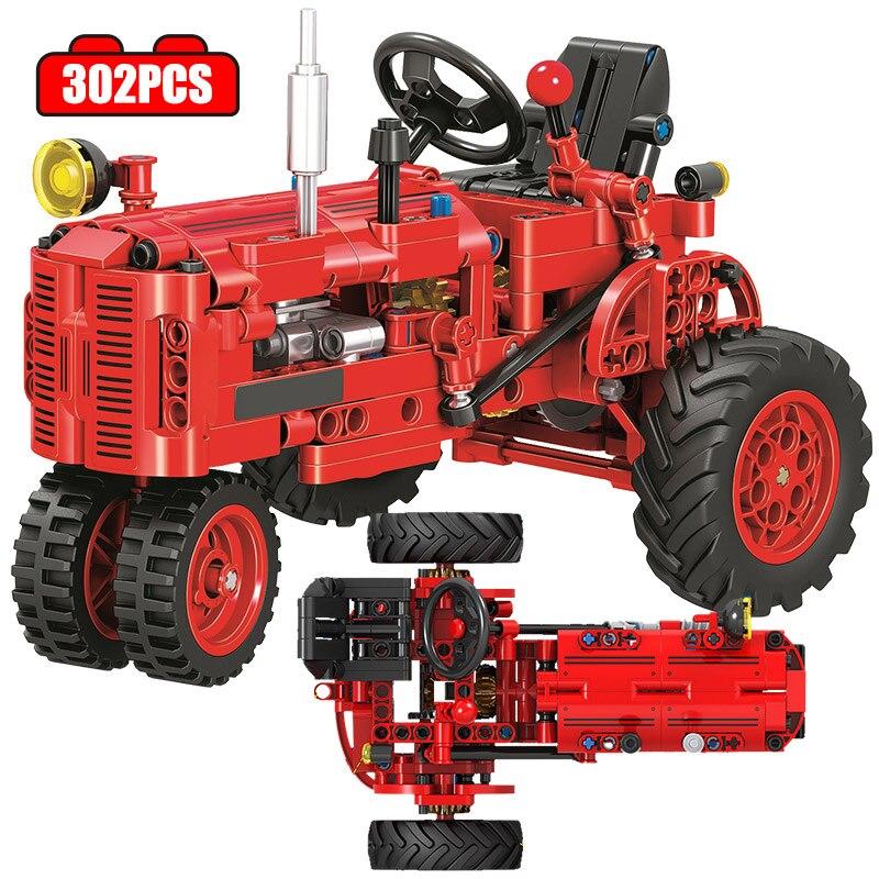 Город будет необычайно комфортно в одежде классического Старый трактор автомобиля технической строительных блоков DIY трактор с выносным у...