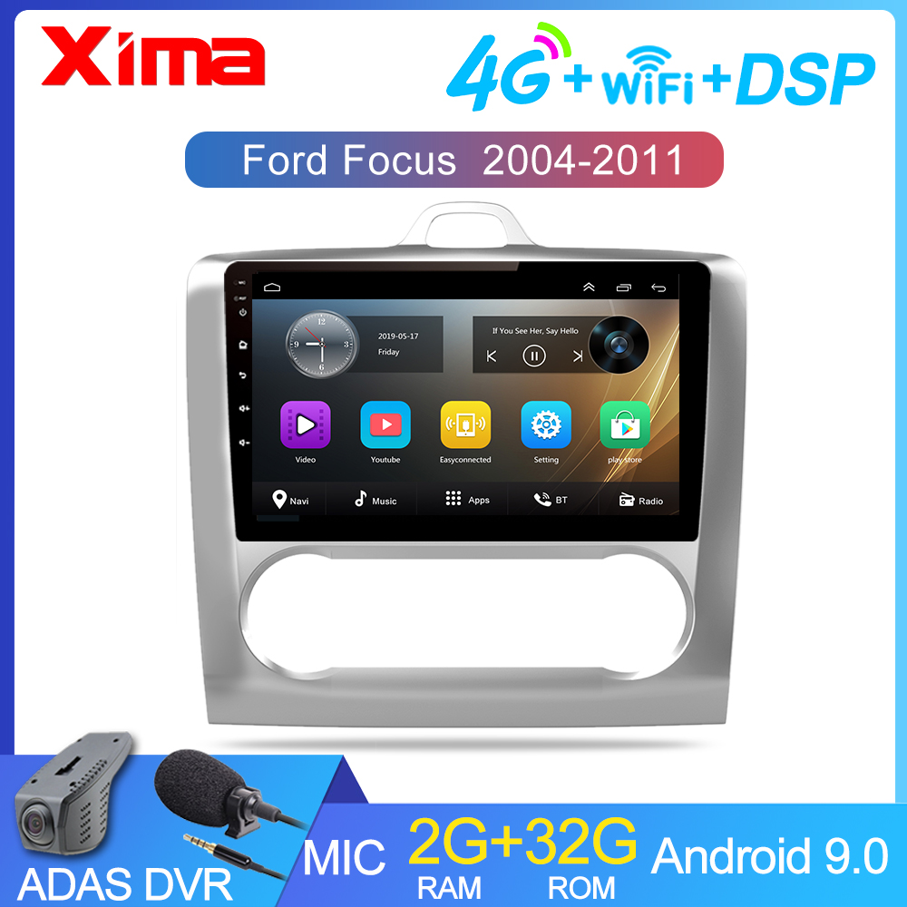 XIMA 9 Inch 2 DIN Android 9.0 GPS Navigation Car Radio Multimedia Player For 2004 2005 2006-2011 Ford Focus Exi AT(China)