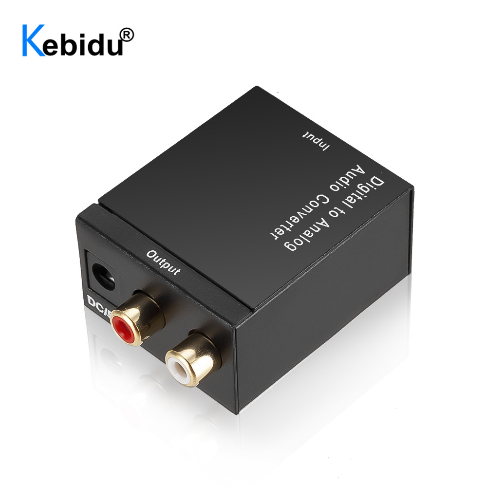 Преобразователь цифрового сигнала в аналоговый, 5 В, оптоволоконный коаксиальный Toslink SPDIF в RCA для ТВ-приставки, усилителя DVD