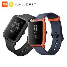 Huami amazfit bip juventude relógio inteligente versão ritmo lite bluetooth 4.0 gps freqüência cardíaca 45 dias bateria ip68