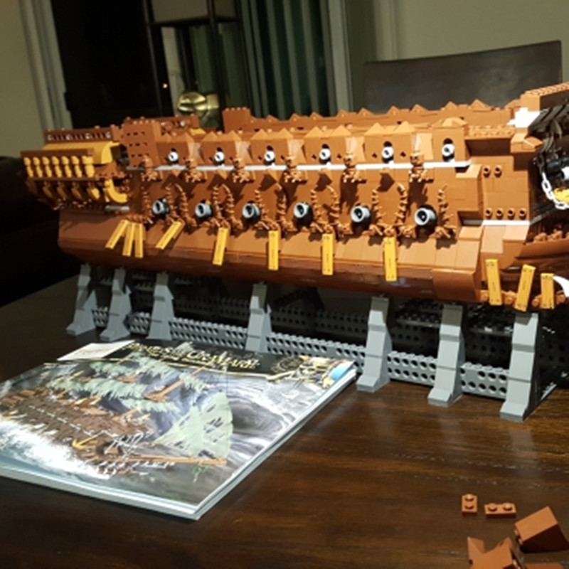 16016 Pirates of the Caribbean Movies Series MOC The Flying Netherlands Building Blocks Bricks Kids Toys Christmas gift 83015 2