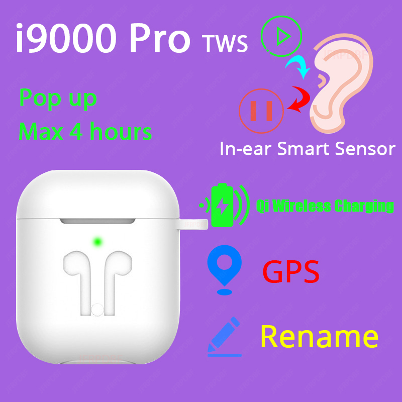 <font><b>Original</b></font> i9000 Pro <font><b>TWS</b></font> 1:1 In-ear Blutooth Earphone Mini Wireless Headset Headphones elari PK Aire 2 3 fone de ouvido bluetooth image