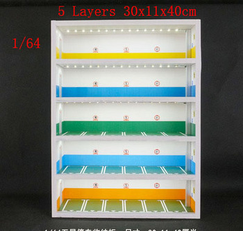 1:64 underground parking lot Scene 5 layers display cabinet for model car storage box show rack