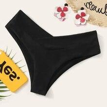 Черные трусики бикини для женщин, сексуальные трусики бикини с низкой талией