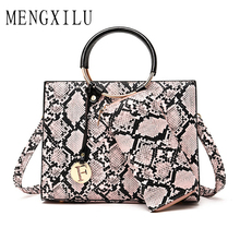 2019 New Leather Handbag Luxury Crocodile Tote Bag Quality Shoulder Bags Handbags Women Famous Brands Designer Sac A Main Femme