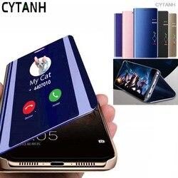 coque Case For huawei honor nove 5T Flip Mirror smart stand book phone cover on honor 20 pro nova5 t nova5t nova 5 t shockproof