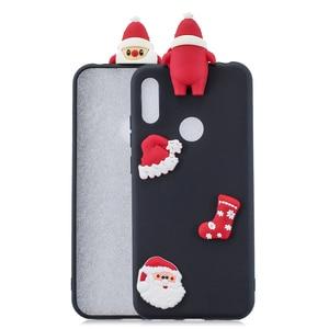 Image 2 - Santa Claus Nette Abdeckung Telefon Fall Für Huawei Y6 Y7 Y5 2018 Fall Für Huawei Y7 Y6 Schutzhülle Y5 y7 Y9 2019 Shell
