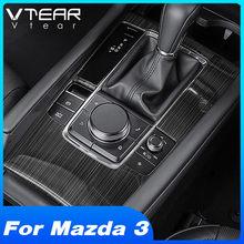 Vtear Für Mazda 3 2019 2020 Zubehör interior Center konsole wasser tasse panel Getriebe rahmen Trim Abdeckung auto dekoration/chrom