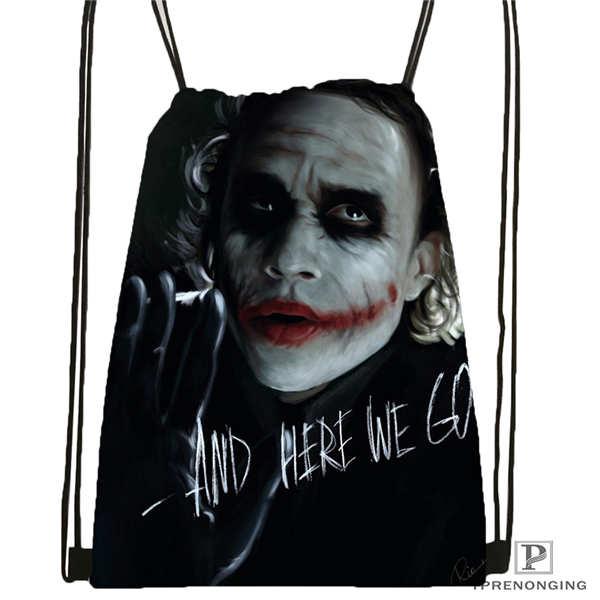 Custom The-joker-batman-arkham @01- Drawstring Backpack Bag Cute Daypack Kids Satchel (Black Back) 31x40cm#180611-03-113