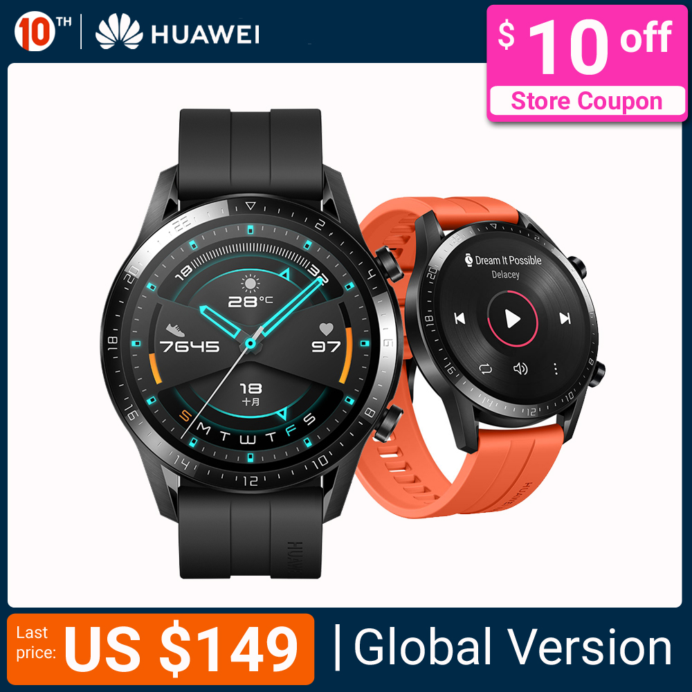 In Stock Huawei Watch GT 2 Smart watch Bluetooth Smartwatch 5.1 14 Days Battery Life Phone Call Heart Rate For Android iOS|Smart Watches| |  - AliExpress