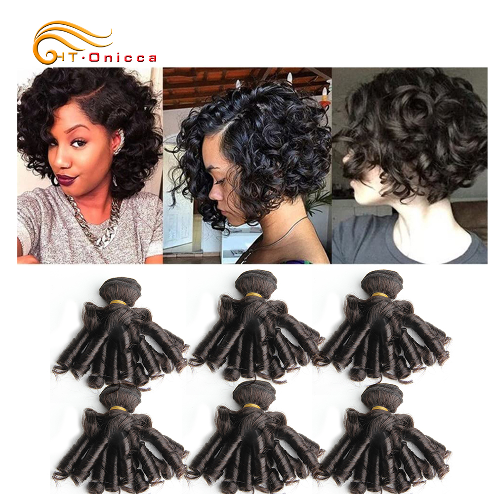 Curly Hair Bundles 6pcs 100% Human Curly Hair Double Drawn  Natural Color  Hair s 3
