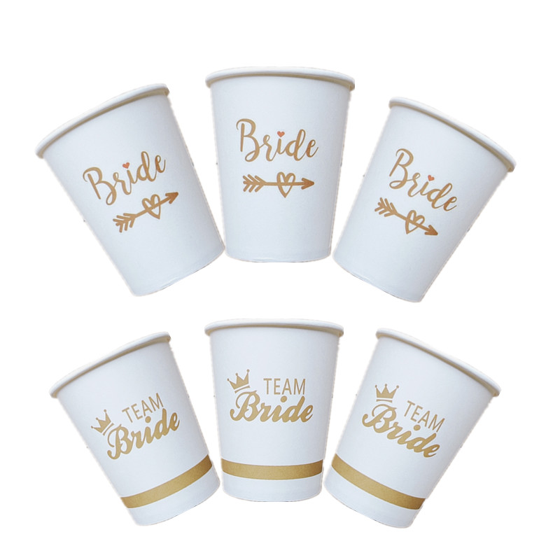 5pcs/10pcs Bride To Be Cup Wedding Decoration Team Bridesmaid Hen Party Bride Shower Party Decoration Gift Bachelorette Party-C