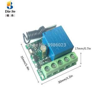 Image 5 - 433mhz universal sem fio de controle remoto para portão garagem dc 12v 1ch relé módulo receptor 4 botão controle remoto rf interruptor