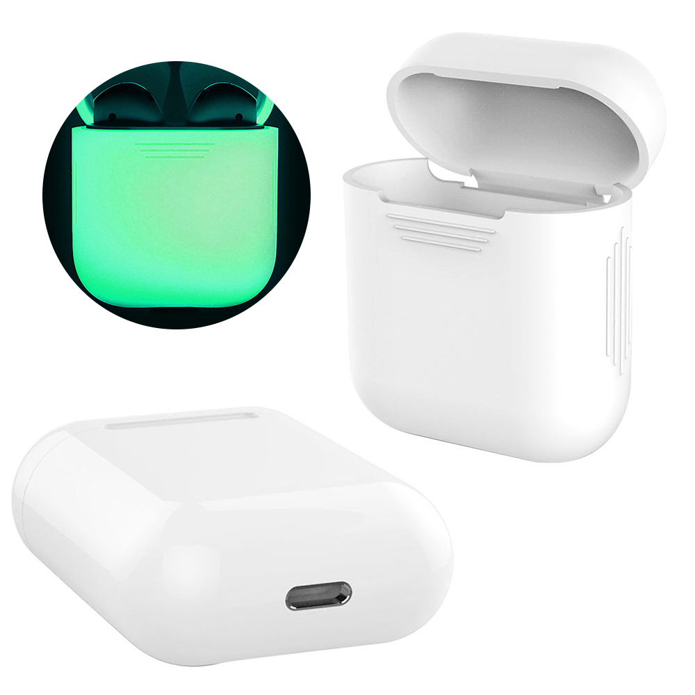 Luminous Thickening For AirPods Earphone For Apple Anti-drop Shockproof Cover For AirPod Protector Case Color Soft Silicone Case