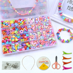 Image 1 - DIY Handmade Beaded Toy with Accessory Set Girl Weaving Bracelet Jewelry Making Toys Educational Toys for children Children Gift