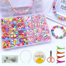 Diy Handgemaakte Kralen Speelgoed Met Accessoire Set Meisje Weven Armband Sieraden Maken Speelgoed Educatief Speelgoed Voor Kinderen Kinderen Gift