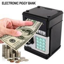 אלקטרוני פיגי בנק נייר כסף כספומט סיסמא כסף תיבת במזומן מטבעות חיסכון תיבת כספת מיני אוטומטי הפקדת ילדים קופת