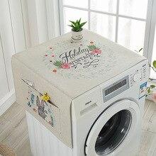 Универсальный чехол полотенце хлопок и лен крышка холодильника чехол для микроволновой печи крышка холодильника наклейка