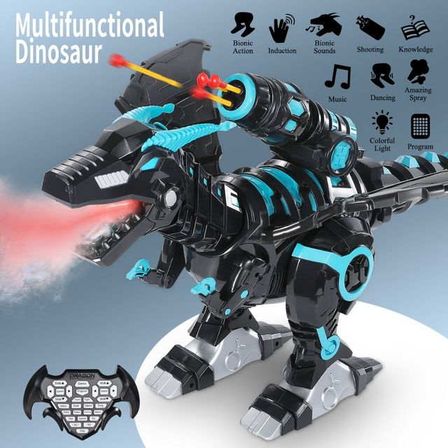 Mist Spray Remote Control Dinosaurs Toys Electric Dinosaur RC Robot Animals Educational Toys for Children Boys Gifts 1
