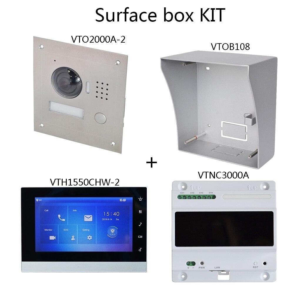Image 3 - DH logo Multi Language 2 Wire IP Video intercom KIT Include doorbell & monitor & power supply,VTO2000A 2 S1 VTH1550CHW 2 S1Video Intercom   -