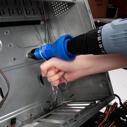 Workpro elétrica arma porca rebite ferramenta de rebitagem sem fio broca rebitagem adaptador inserção porca ferramenta multifunções arma do prego rebites