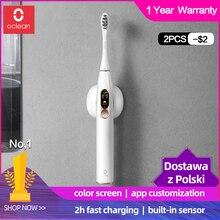 Versión Global Xiaomi cepillo de dientes eléctrico Oclean X sonic para adultos impermeable Ultra sónico automático de carga rápida cepillo de dientes mijia