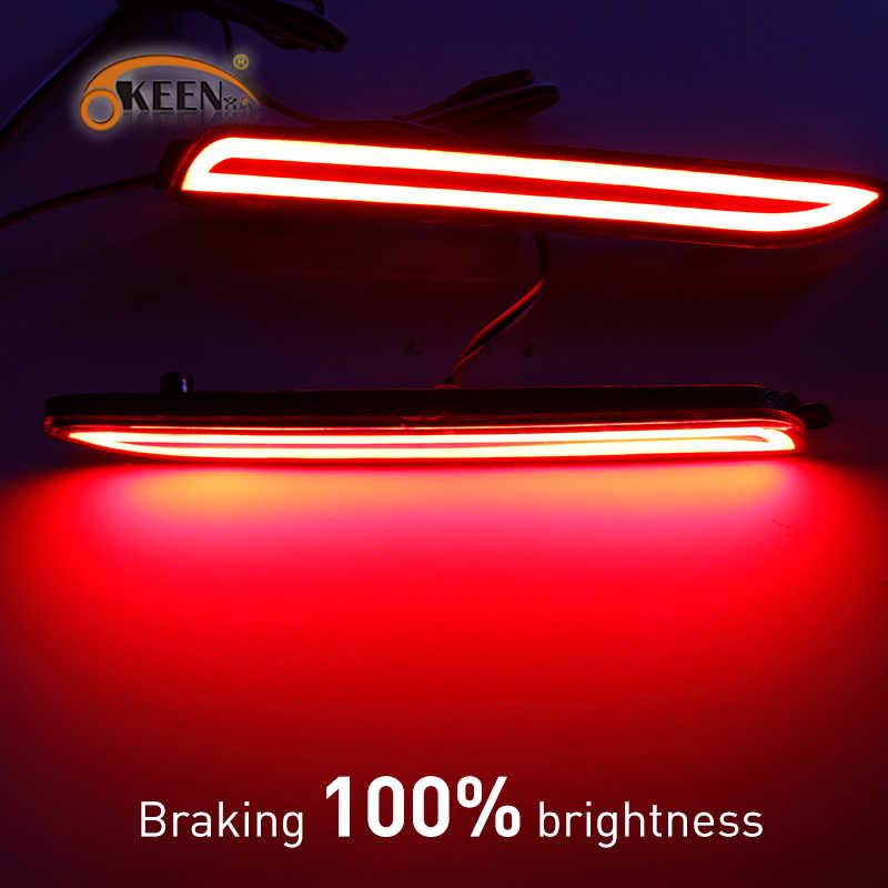 2 Stuks Auto Led Rear Bumper Reflector Remlichten Rood Lamp Voor Lexus IS-F GX470 RX300 Voor Toyota/Camry/Sienna/Venza/Reiz/Innova
