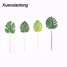 Xuanxiaotong 1pcs Artificial Plants Plastic Grass Turtle Leaves Wall Green Plant Accessories Wedding Decoration