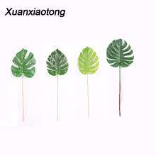 Xuanxiaotong 1pcs Artificial Plants Plastic Grass Artificial Turtle Leaves Wall Green Plant Accessories Wedding Decoration(China)