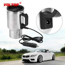 12V 450ml Electric In-car Boil Water Travel Heating Cup Coffee Tea Car Cup Mug Heater Universal for Most Car Cup Holders dmwd auto electric bottle portable car hot water heater cup travel heating kettle teapot stainless steel coffee tea mug 12v 24v