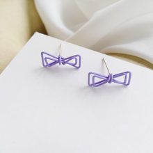 S925 needle Girl Earrings Simply Design Metal With Hot Selling Popular Purple Stud Earrigns For Women Jewelry Party Gifts