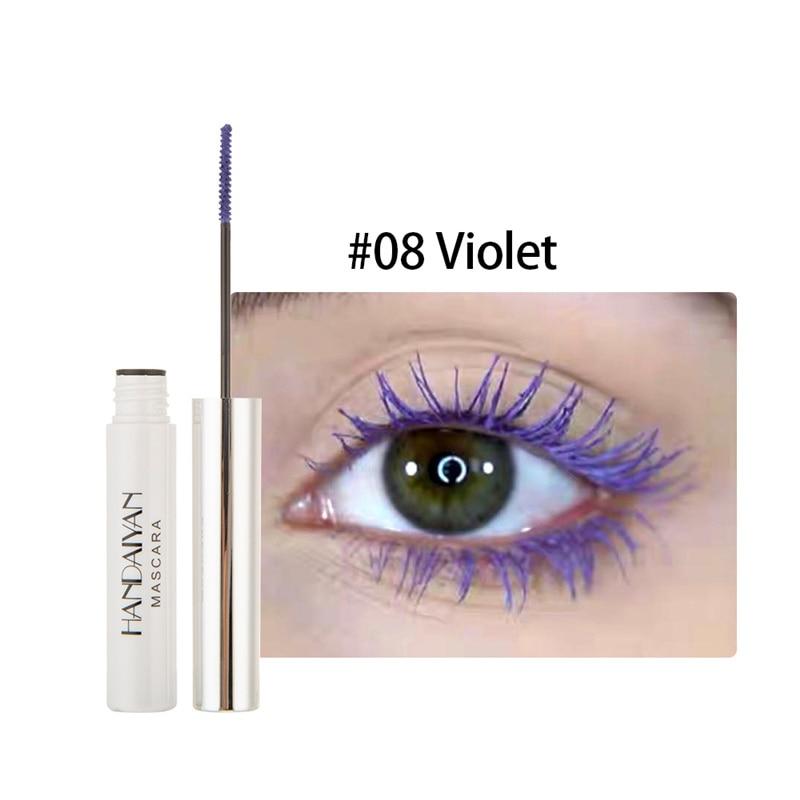 Цветная тушь водостойкие ресницы, Подкручивающая, удлиняющая, густой объем, макияж, ресницы для глаз, быстро сохнут, стойкий макияж для красоты - Цвет: 8