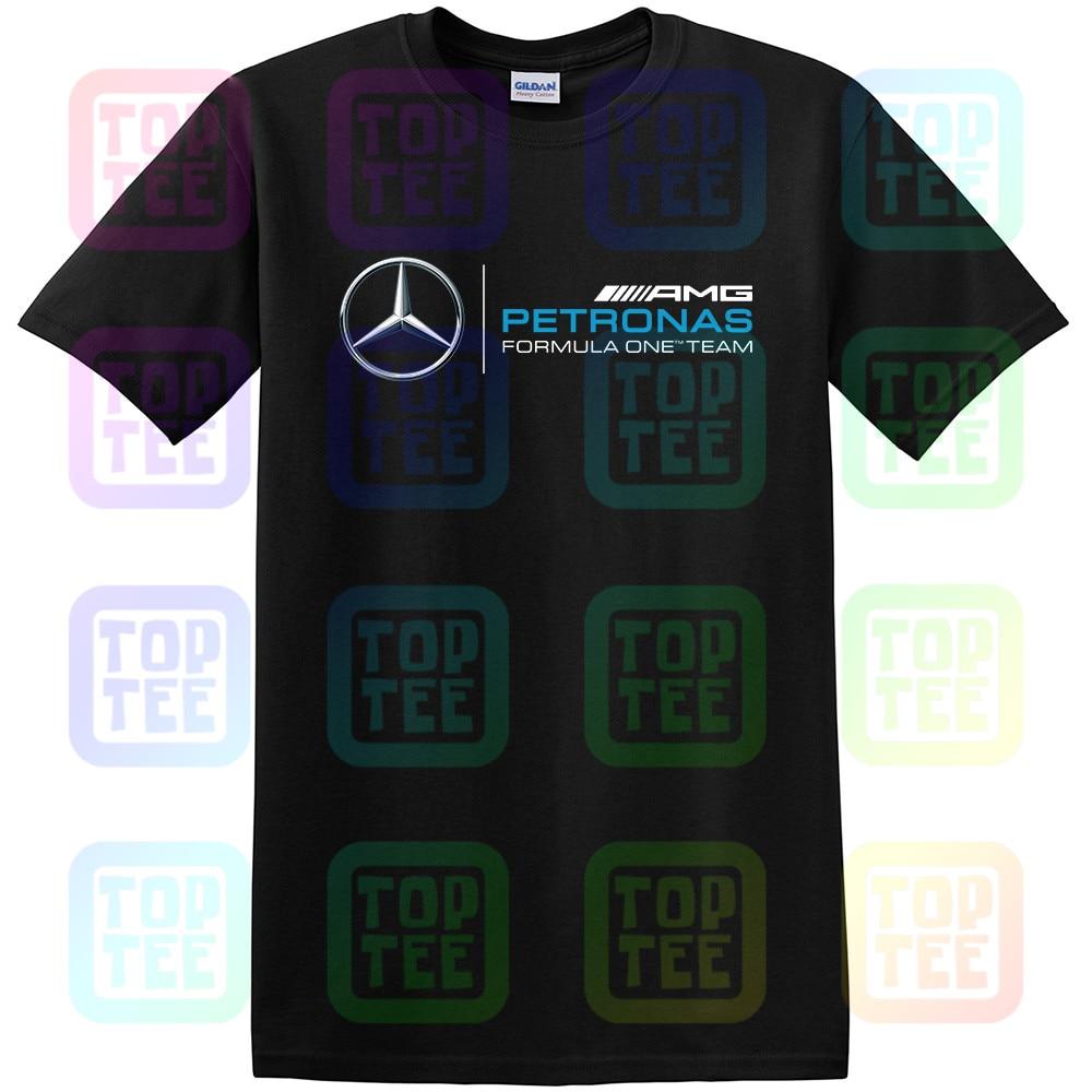 T-Shirt Petronas Formula F1 Black Logo Cotton Unisex Size S-3XL