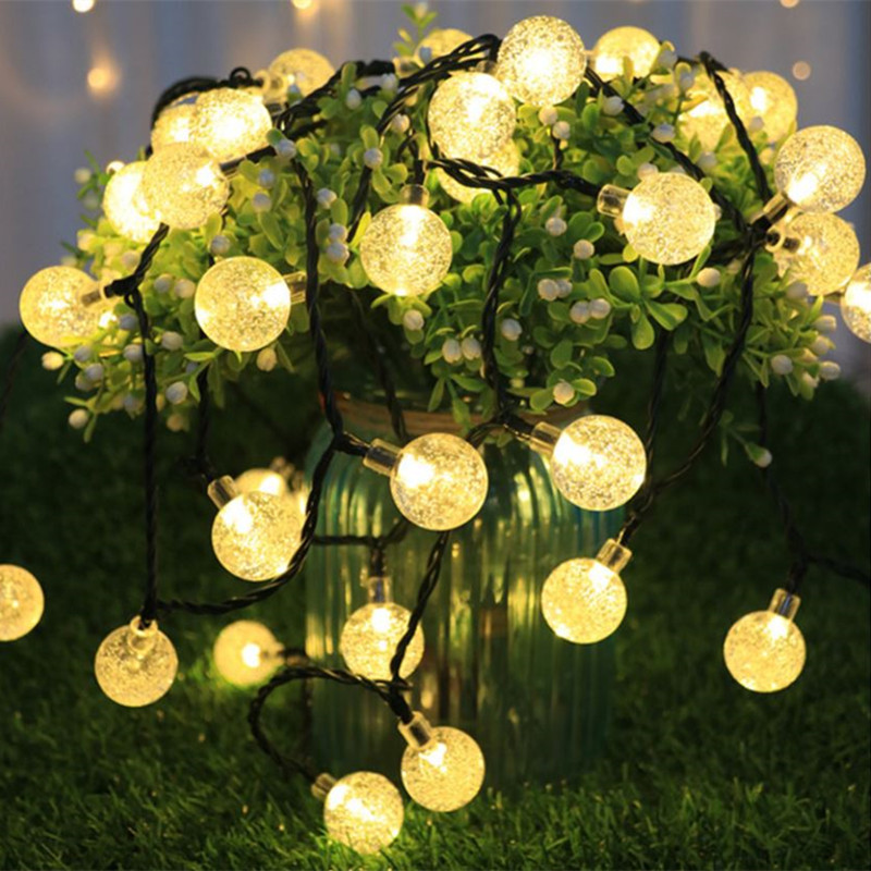 cheapest LED Outdoor Solar Lamp String Lights 100 200 LEDs Fairy Holiday Christmas Party Garland Solar Garden Waterproof 10m