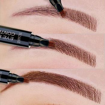 Eye Brow Pencil Waterproof Microblading Eyebrow Tattoo Pen Long-lating Fine Sketch Fork Tip Professional Liquid Eyebrows Pen